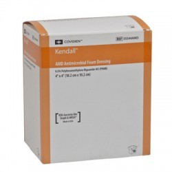 55548AMDX Apósito espuma amd antimicrobiano con polihexametileno de biguanida de 10.2X20.3 CM