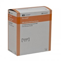 55566AMDX Apósito espuma amd antimicrobiano con polihexametileno de biguanida de 15.2X15.2 CM