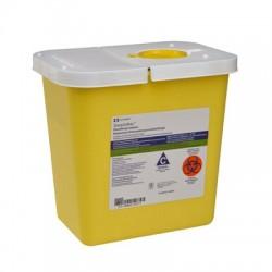 8982 Recolector para residuos líquidos biológico infecciosos con tapa, bisagra color amarillo de 7.57 LT Caja con 20 piezas