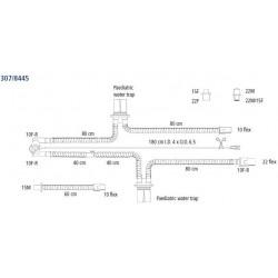 307/8445 Circuito PVC neonatal con trampas de agua equipos: INFANT STAR,BEAR BP 200,BP2001 , EQUIPOS : INFANT STAR,BEAR BP
