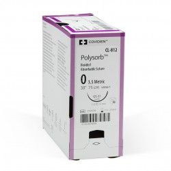 UL877 Polysorb 0 75 CM GU-46 redonda/ahusada urología cierre puertos 27 5/8 Caja con 36 piezas