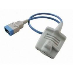M1191T Sensor SPO2 reusable, adulto punta suave, 0.45mts 9PIN