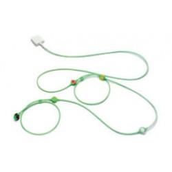 CABLE ECG, 5 DERIVACIONES CONECTOR DE PIN DUAL MONO LEAD 5, IEC2 (CÓD.COL. AHA/US), 2,5M