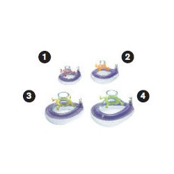 MP01532 Mascarilla oronasal, anestesia,ComfortStar®, desechable, anillo de enganche, aroma chicle, tamaño 2, bebé