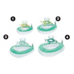 MP01543 Mascarilla oronasal, anestesia,ComfortStar®, desechable, anillo de enganche, aroma menta, tamaño 3, niño