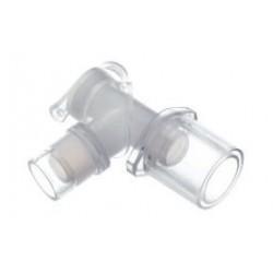 MP01890 Conector vías respiratorias ErgoStar® AC 90, desechable, codo giratorio doble con tapa doble