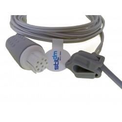 CR001-3102E Sensor SPO2 reusable neonatal cinturón de silicón, 3.0M 10Pins, Datex