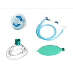 Circuito de anestesia ventset coaxial, completo, mascarilla, bolsa, filtro 1.5M
