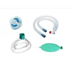 Circuito de anestesia expandible vent set, sin látex, desechable, completo filtro, mascarilla y bolsa, 1.8M