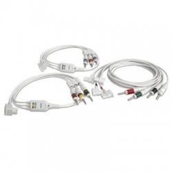 M1608A Cable sin blindaje 3-LEAD SET,SEGURIDAD, AAMI ECG