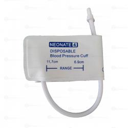 CR009-D-NW-007 BRAZALETE DESECHABLE DE PVC BLANCO, NEONATAL NO.4, 6.9CM-11.7CM, 1 VÍA