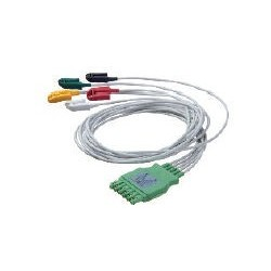 MP03402/MS16231 Cable ECG 3 puntas pin sencillo